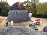 Domehouse in construction